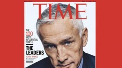 El Periodista Jorge Ramos en la portada de la revista Time.