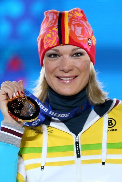 La alemana Maria Höfl - Riesch, de 29 años, es una alpinista...