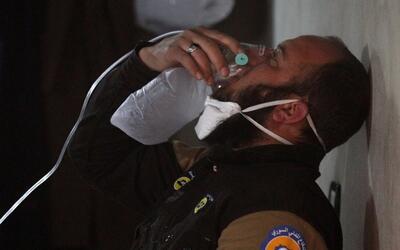Uno de los heridos tras el supuesto ataque con químicos en abril...