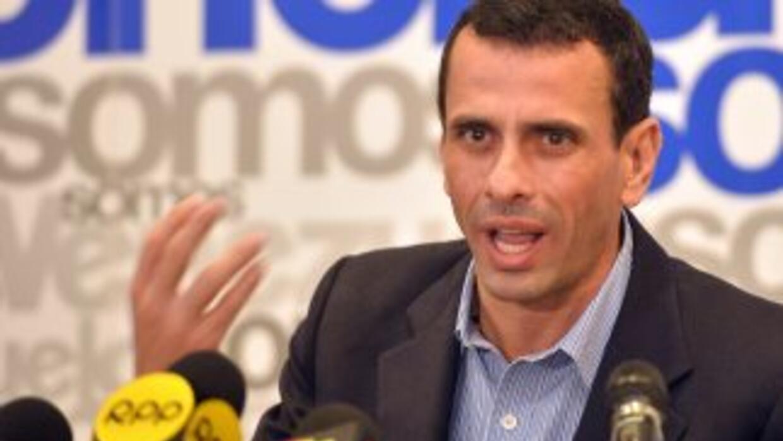 El líder opositor venezolano, Henrique Capriles.