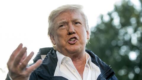 """Para Trump, las malas noticias sobre su gestión son """"falsas..."""