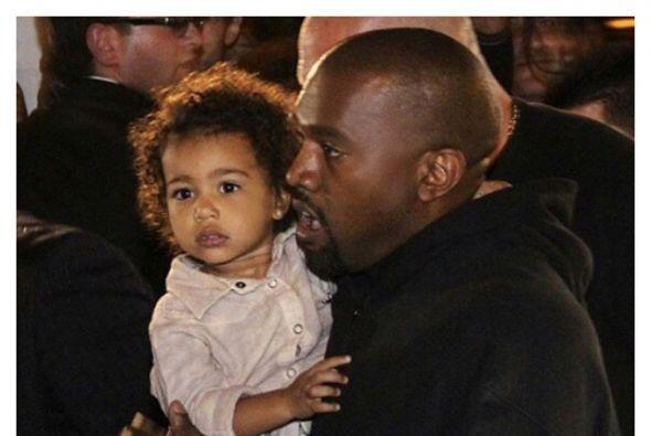 Cuando Kanye está con ella se ve de lo más tierno.
