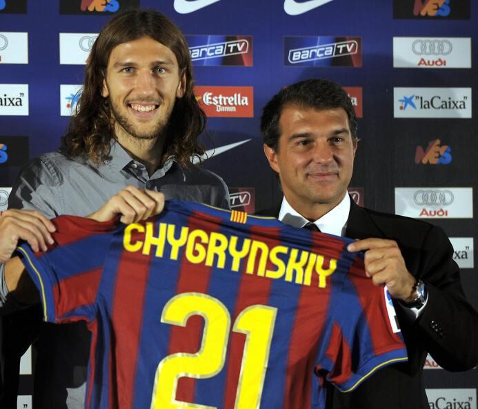 Aunque no salió como hubiesen querido, Dmitro Chygrynskiy llegó al Barce...