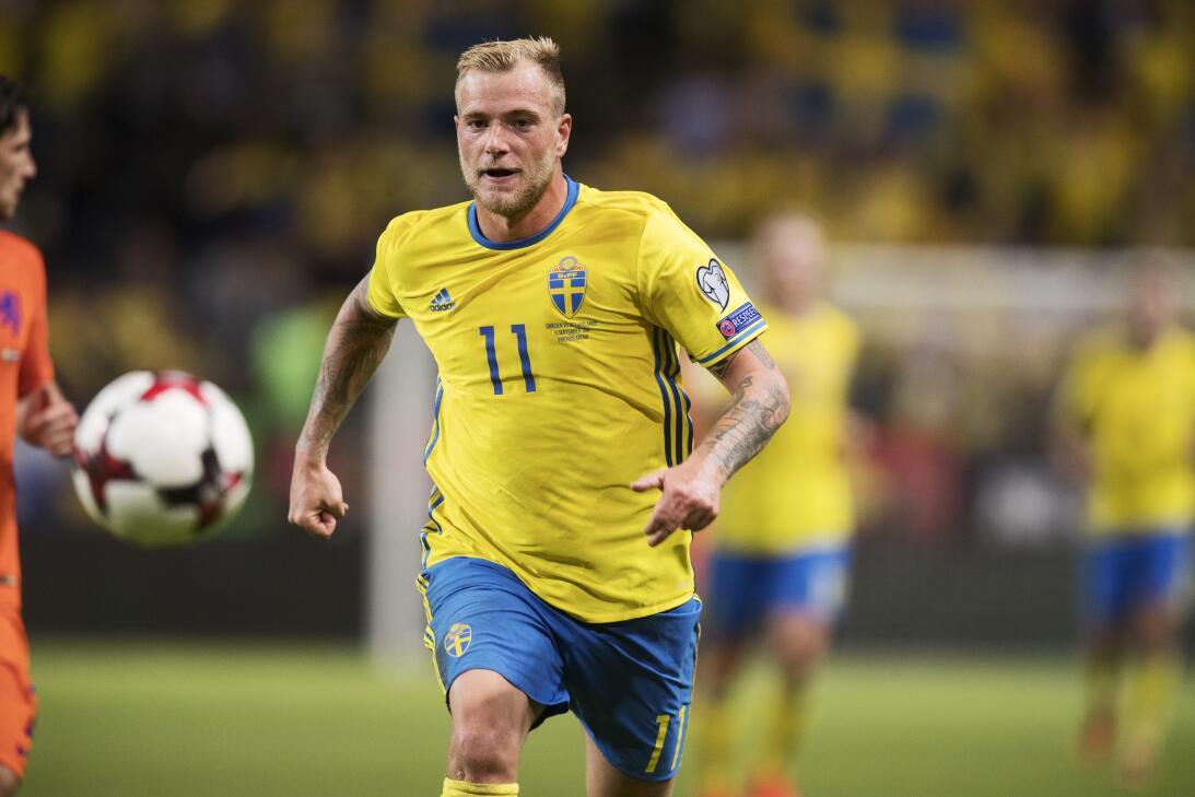 Grupo F. John Guidetti (Suecia) - el talentoso delantero no está pasando...