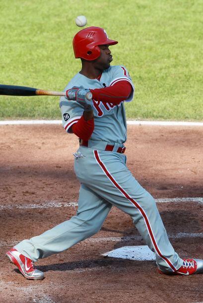 Jimmy Rollis fue uno de los tres bateador de los Phillies que pudieron c...