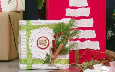 ¿Cansada de las envolturas aburridas? ¡Envuelve tus regalos de manera or...