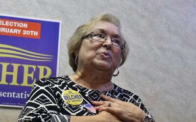 Linda Belcher, demócrata ganadora de la elección especial...