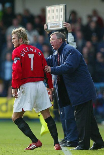 Ferguson Vs. Beckham.En febrero de 2003 el DT del Manchester United, Ale...