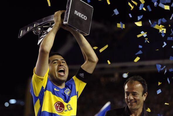 Los éxitos seguirían con el Boca, Riquelme conquistó la Copa Libertadore...