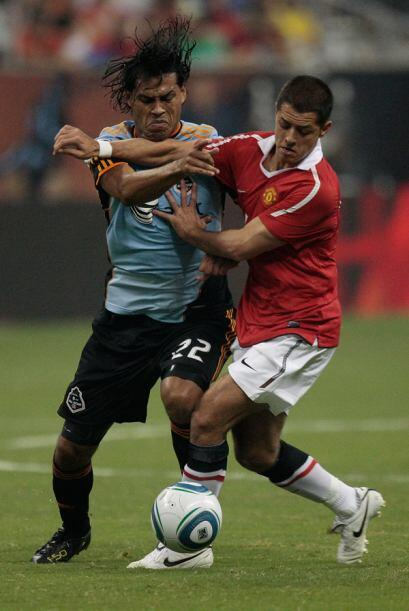 2010: MLS 2-5 Manchester United. Los ingleses, con Chicharito Hernández...