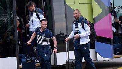 Karim Benzema y Mathieu Valbuena