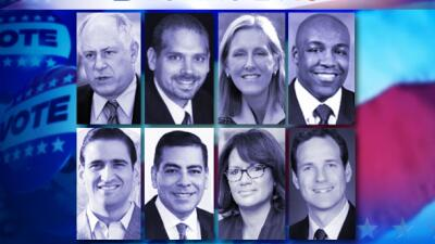 Collage candidatos a procurador estatal de Illinois