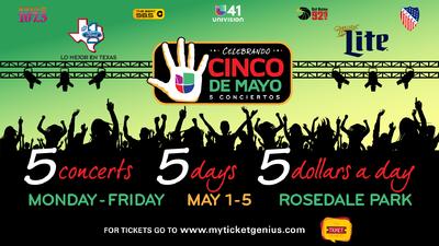 Celebrando Cinco De Mayo 5 Conciertos