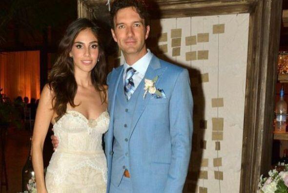 Así lucieron el día de su boda.