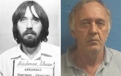 El fugitivo Steven Dishman, en 1984 (i) y en 2017 (d).
