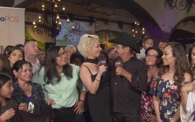 Andrés Maldonado 'El Feo' y Marisela se gozan la final desde la ciudad d...