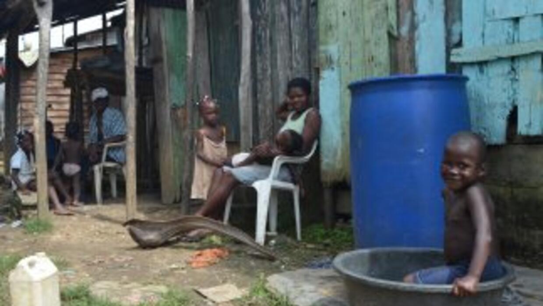 Familias dominicanas de origen haitiano en el batey Verde de Sabana Gran...