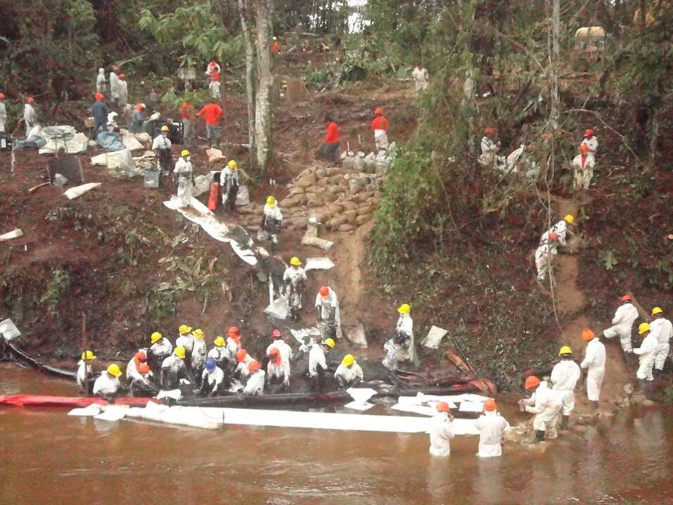 4to derrame cerca de la quebrada Uchichiango, proxima al rio Nieva, aflu...