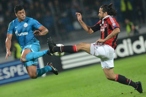 El Zenit ruso recibió al Milan de Italia.