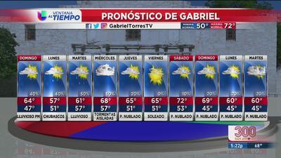 Frente traerá baja de temperaturas y probabilidad de lluvias en San Antonio