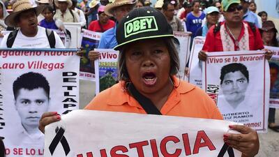 Marchas por la desaparición de normalistas de Ayotzinapa