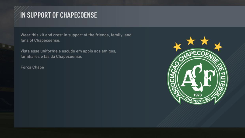 El emotivo mensaje que muestra el FIFA 17 en apoyo al Chapecoense