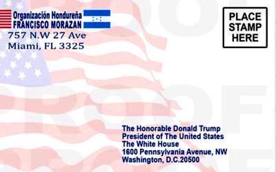 La postal que inmigrantes centroamericanos envían al presidente Trump.
