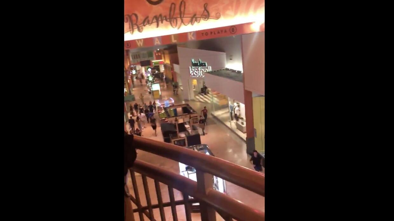 "Video desde el interior del Dolphin Mall: ""¿Están disparando? Yo oigo ti..."