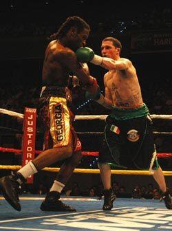 El estadounidense de origen irlandés mostró buen boxeo y ganó. Buena pre...