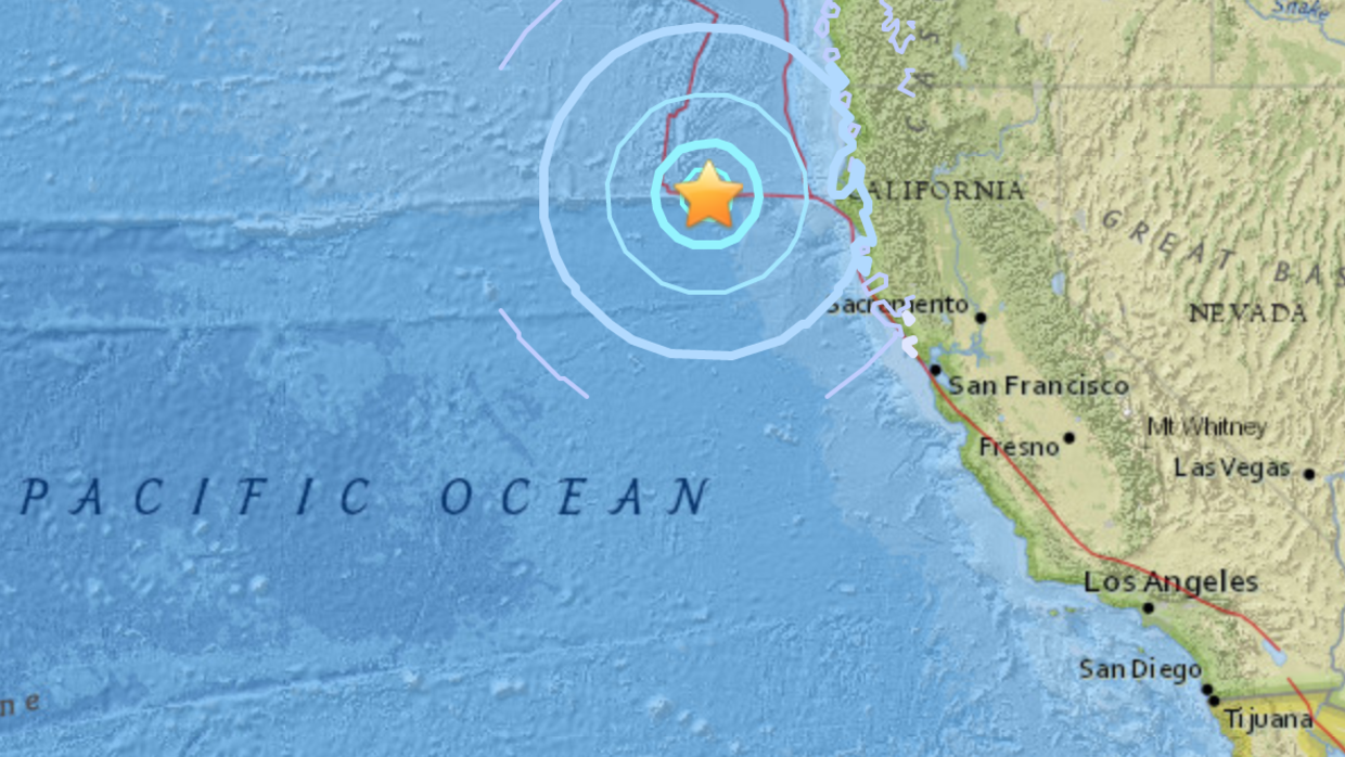 El temblor de 5.7 se registró cerca a la costa norte californiana.