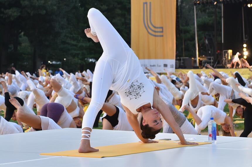 Yoga en Central Park