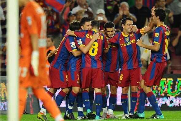 Pese al gran trabajo defensivo de los visitantes, el Barça se pus...