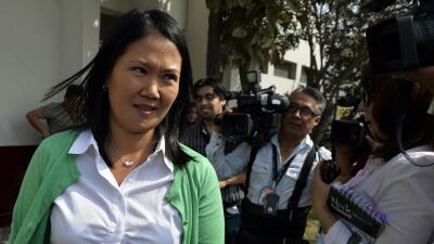 Keiko Fujimori, candidata presidencial de Perú