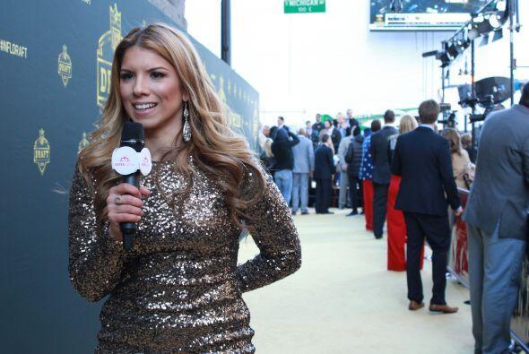 La moda y el deporte se dieron cita en la alfombra dorada de la NFL.