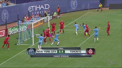 New York City FC 4-4 Toronto FC: 'Hat-trick' de Giovinco, incluido