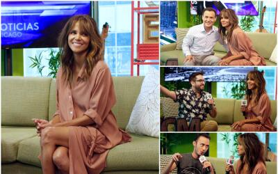 Halle Berry visita los estudios de Univision Chicago