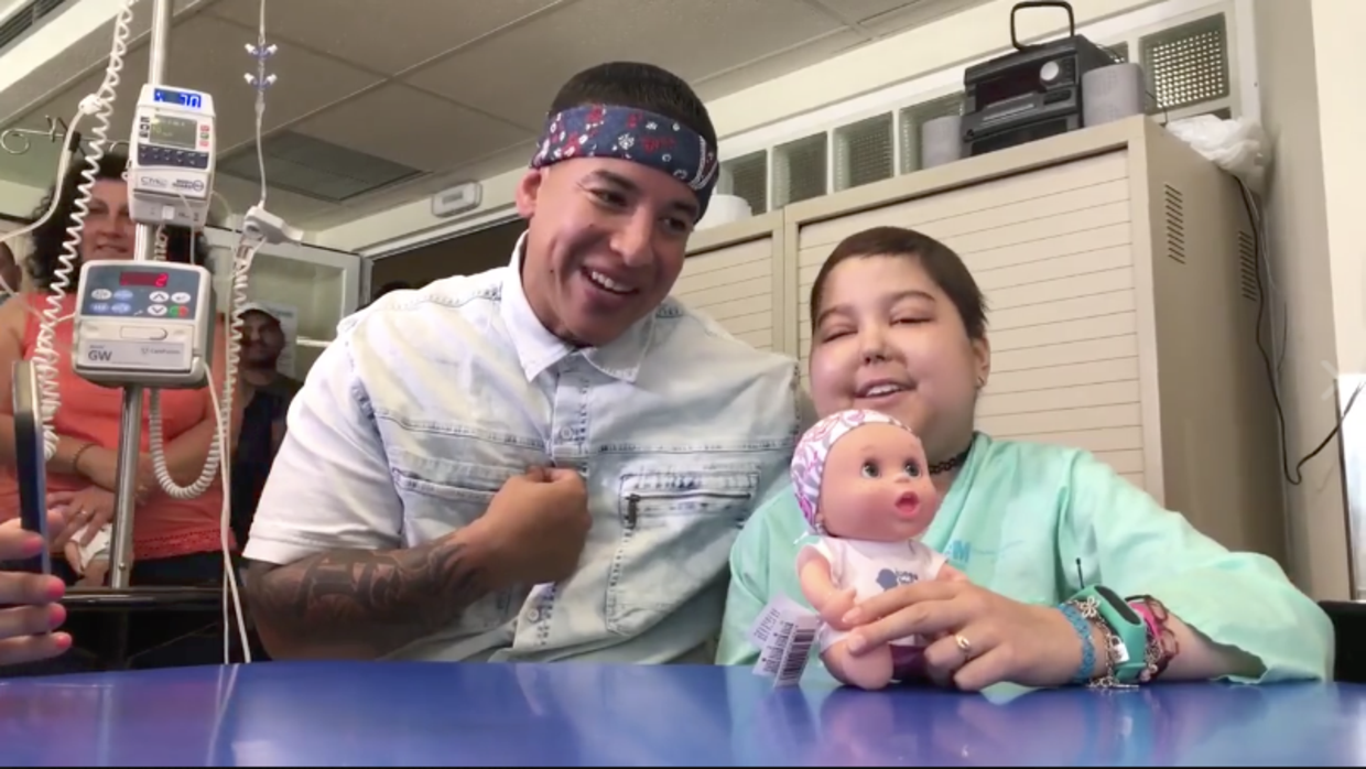 "Little girl who has cancer sings ""Despacito"" with Daddy Yankee"