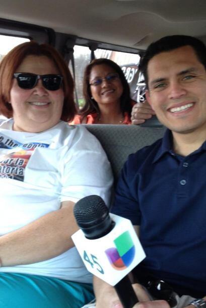 Varios activistas de Houston viajaron más de 30 horas por carretera hast...