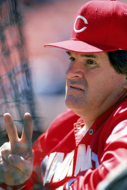 Pete Rose, líder histórico de las Grandes Ligas en número de hits (4,256...