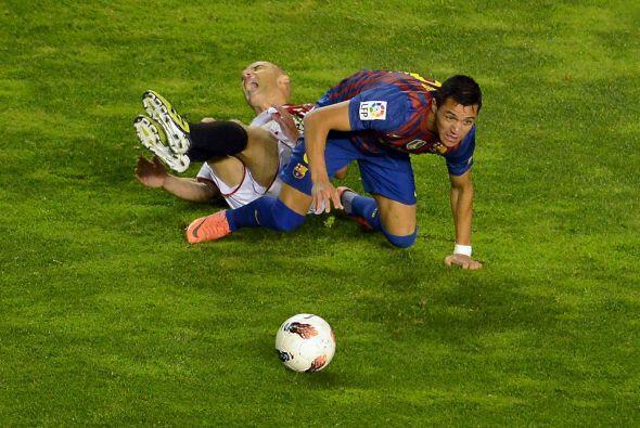Barcelona seguía insistiendo en busca de más goles.