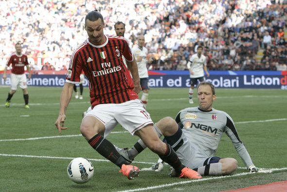 Ya se jugaba la parte final del partido y todo indicaba que el Milan cae...