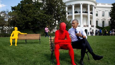 El Presidente posa para el fotógrafo de la Casa Blanca, Pete Souz...