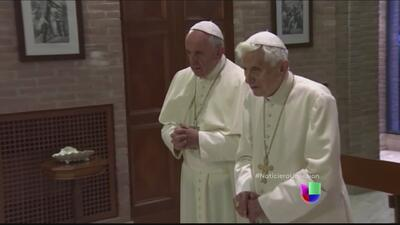 Los dos Papas rezan para su equipo en el Mundial