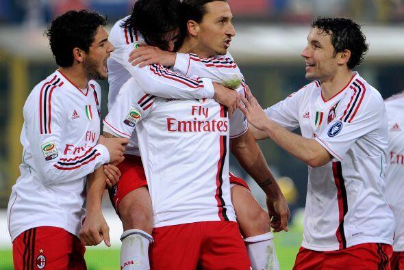 El sueco no falló y el Milan ya ganaba 2-1.