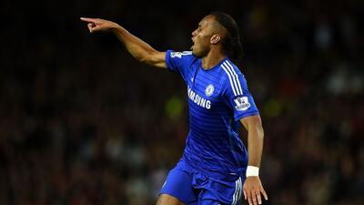 El marfileó festejando una anotación con Chelsea.