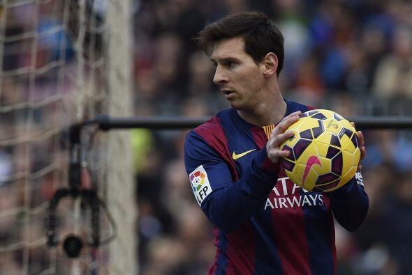 Messi tampoco tuvo su mejor día, el balón no fue amigo de sus pies.