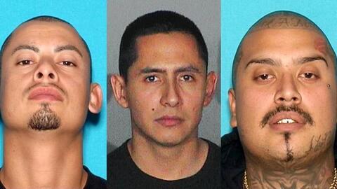 The three MS-13 fugitives (left to right): Jesse Pérez, Jorge Alberto Ra...