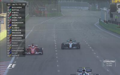 Sebastián Vettel dejó ir el podio ante Lance Stroll