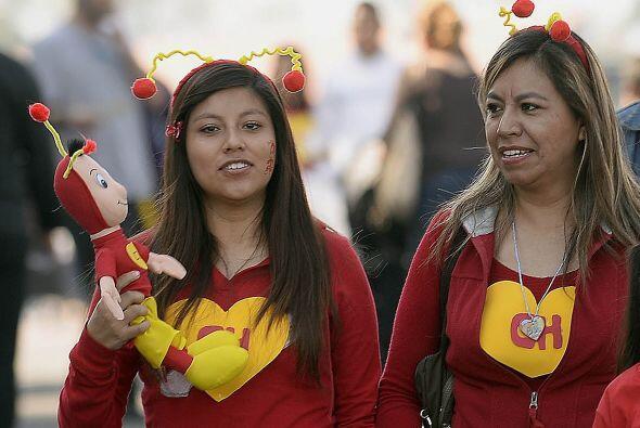 Las Chapulinas Coloradas, también dijeron presente en el homenaje a Ches...