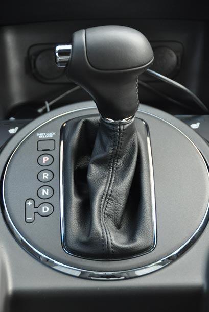 La caja de cambios automática tiene opción para cambios manuales.